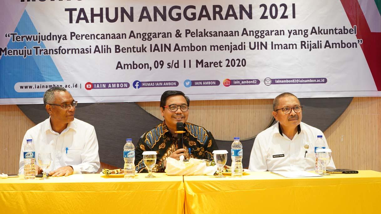 Pesan Karo Biro Perencanaan Sekjen Kemenag untuk IAIN Ambon
